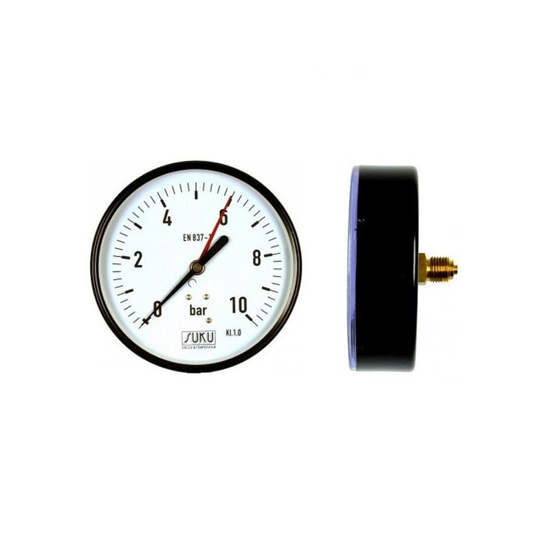 Nyomásmérő óra hátsó bekötésű