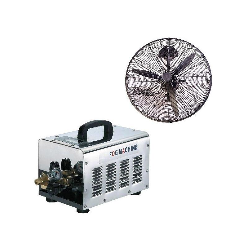 Nagynyomású teraszhűtő rendszer 2 hűtő ventilátorral / 70bár