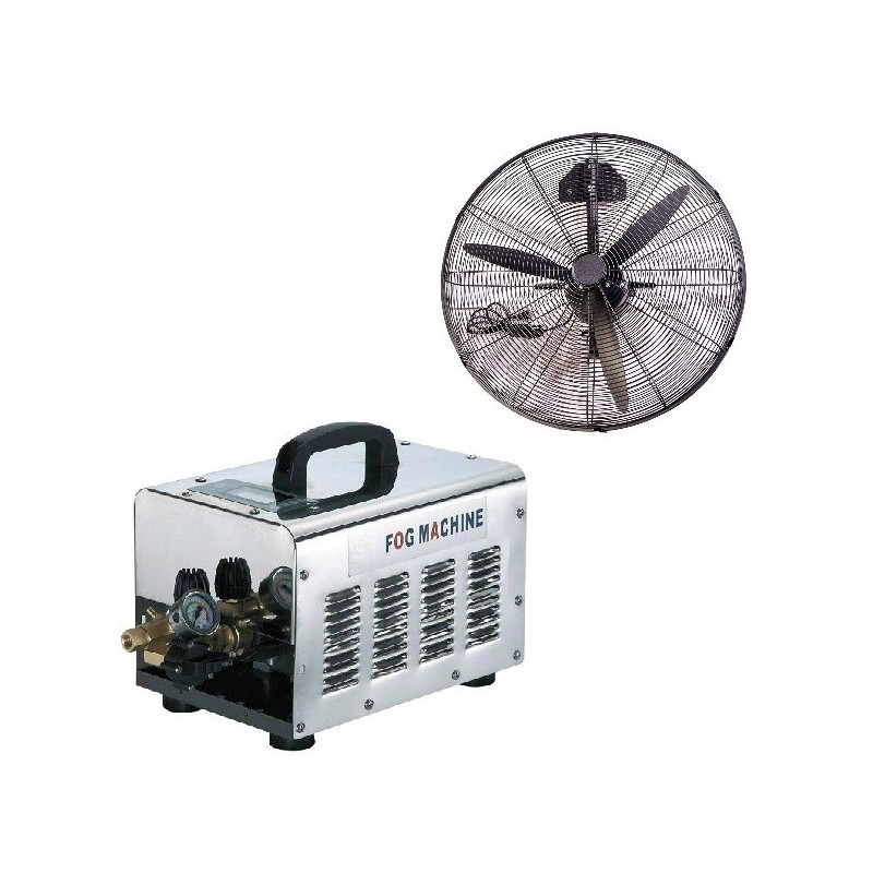 Nagynyomású teraszhűtő rendszer 7 hűtő ventilátorral / 70bár