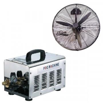 Nagynyomású teraszhűtő rendszer 9 hűtő ventilátorral / 70bár